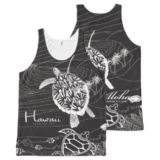 De Schildpadden van Hawaï All-Over-Print Tank Top