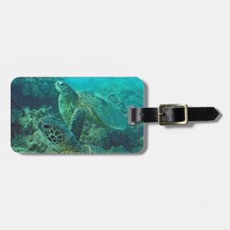 De Schildpadden van Hawaï Honu Kofferlabel