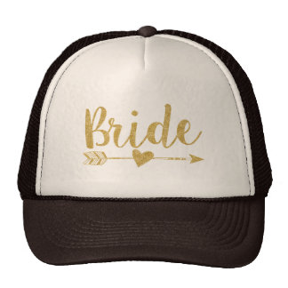 De schitteren-Druk van Bride|Bride Tribe|Golden Petten Met Netje