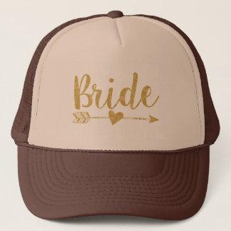 De schitteren-Druk van Bride|Bride Tribe|Golden Trucker Pet