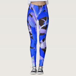 De schitterende Blauwe Beenkappen van het Patroon Leggings
