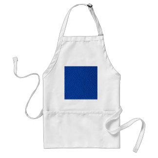 De schitterende Blauwe Textuur van het Leer Standaard Schort