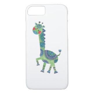 De schitterende Groene Giraf iPhone 7 Hoesje