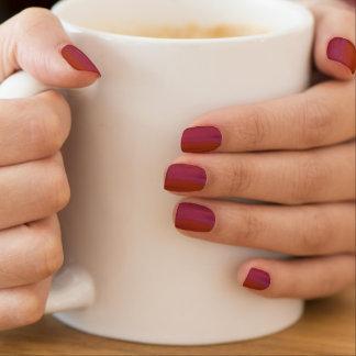 De schitterende Hete Roze en Oranje Stickers van Minx Nail Folie