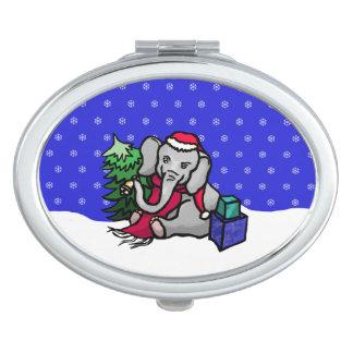 De schitterende Olifant van de Kerstman van Make-up Spiegeltjes