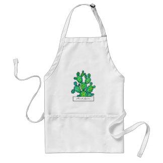 De schitterende Stekelige Cactus van de Waterverf Standaard Schort