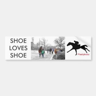 De schoen houdt van Schoen Bumpersticker