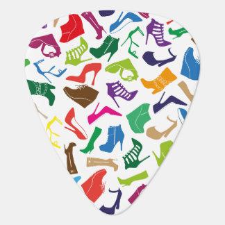 De schoenen van de kleurrijke Vrouwen van het Plectrum