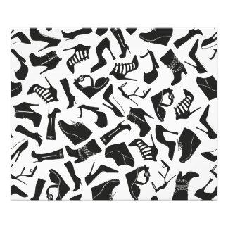 De schoenen van de zwarten van het patroon foto print