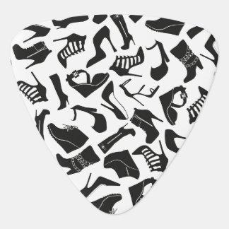 De schoenen van de zwarten van het patroon plectrum