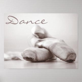 De Schoenen van Pointe van het ballet op de Poster