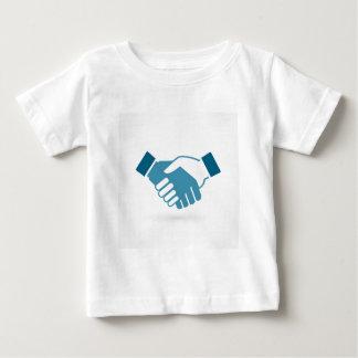 De schok van de hand baby t shirts