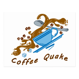 De Schok van de koffie Briefkaart
