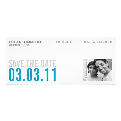 De schone Blauwe Foto bewaart de Datum Aankondiging