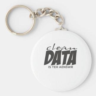 De schone Gegevens zijn het Antwoord Basic Ronde Button Sleutelhanger