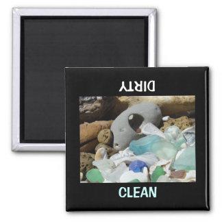 De schone Vuile douane van de Afwasmachine van Vierkante Magneet