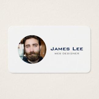 De schone Witte Eenvoudige Moderne Cirkel van de Visitekaartjes
