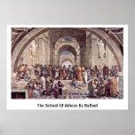 De school van Athene door Raffael Poster
