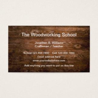 De School van de houtbewerking Visitekaartjes