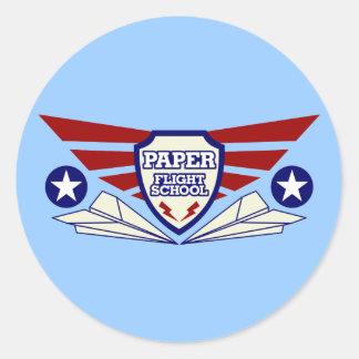 De School van de Vlucht van het Vliegtuig van het Ronde Stickers