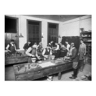 De School van het loodgieterswerk, de vroege jaren Briefkaart