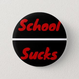 De school zuigt ronde button 5,7 cm