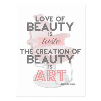 De schoonheid is het Briefkaart van de Salon van