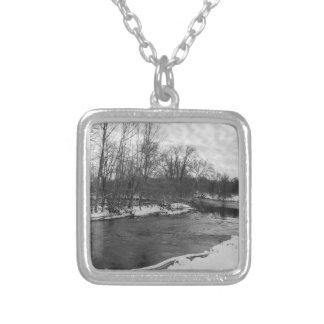De Schoonheid James River Grayscale van de sneeuw Zilver Vergulden Ketting
