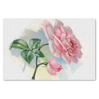 De schoonheid nam Roze op Grijs Papieren zakdoekje Tissuepapier