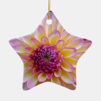 De Schoonheid van de dahlia Keramisch Ster Ornament