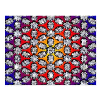 De Schoonheid van de regenboog & van de Diamant Briefkaart