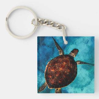 De Schoonheid van de Schildpad van het zee Sleutelhanger