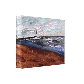 De Schoonheid van Michigan van het meer Stretched Canvas Afdrukken