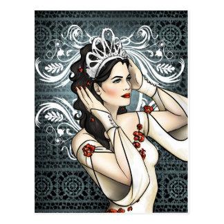 De Schoonheidskoningin van het Sneeuwwitje met Briefkaart