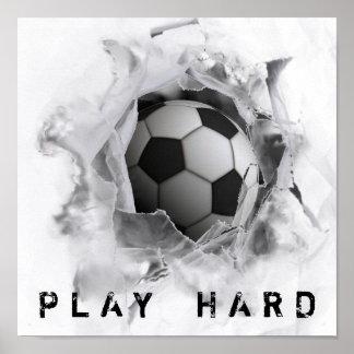 De Schop van het voetbal Poster