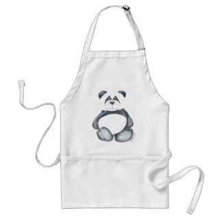 De schort met Unieke Panda draagt