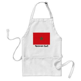 De schort van de de vlagchef-kok van Marokko