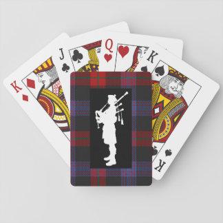 De Schotse Bagpiper Speelkaarten van het Geruite