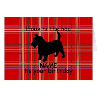 De Schotse Hond van Terrier past Kaart, Scots Kaart