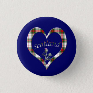 De Schotse Knoop van de Distel van het Hart van Ronde Button 3,2 Cm