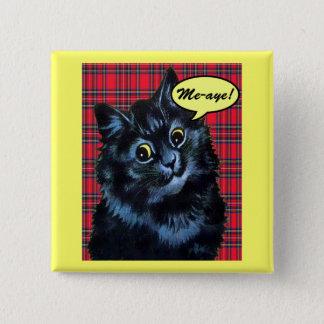 De Schotse Knoop van de Kat van de Vierkante Button 5,1 Cm