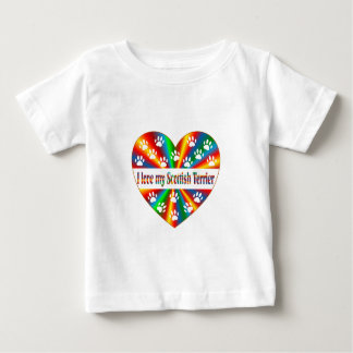 De Schotse Liefde van Terrier Baby T Shirts