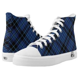 De Schotse Plaid van het Geruite Schotse wollen High Top Schoenen