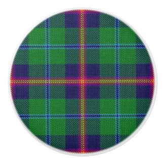 De Schotse Plaid van het Geruite Schotse wollen Keramische Knop