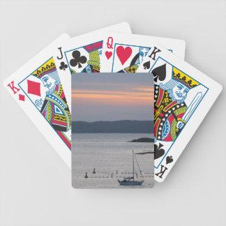 De Schotse Speelkaarten van de Zonsondergang en va Bicycle Speelkaarten