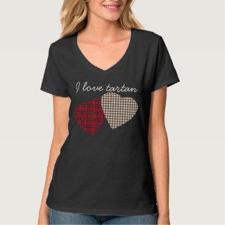 De Schotse T-shirt van het Hart van het Geruite