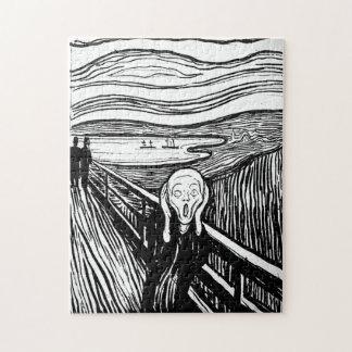 De schreeuw door Edvard Munch Puzzel