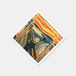 De schreeuw door Edvard Munch Wegwerp Servetten