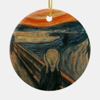 De schreeuw - Edvard smakt Rond Keramisch Ornament
