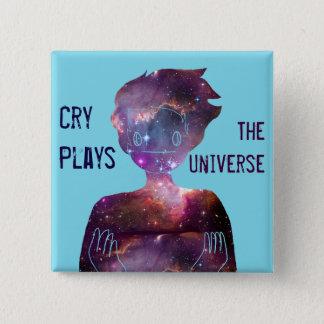 De schreeuw speelt: Het heelal Vierkante Button 5,1 Cm